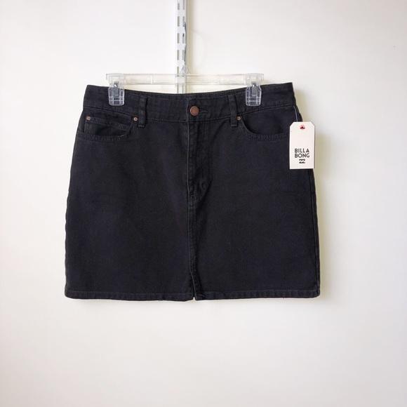 Billabong Dresses & Skirts - Billabong black denim mini skirt